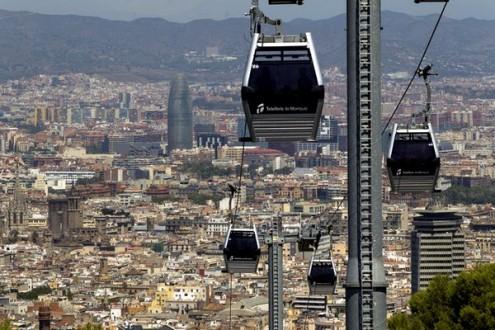 Barcelona 03/08/2012 Teleferico de Montjuic Fotografia Albert Bertran