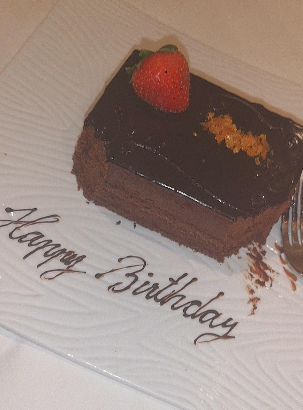birthday cake from hotel